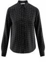 Блузка базовая из вискозы oodji #SECTION_NAME# (черный), 11411136B/26346/2912D