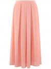 Юбка в складку из струящейся ткани oodji #SECTION_NAME# (розовый), 23G00009-2B/45193/4B00N