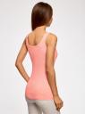 Майка базовая oodji для женщины (розовый), 14315001B/45307/4000N