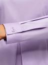 Блузка хлопковая с баской oodji #SECTION_NAME# (фиолетовый), 13K00001-1B/42083/8000N - вид 5