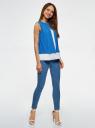 Блузка двуцветная многослойная oodji #SECTION_NAME# (синий), 14901418/26546/1275B - вид 6