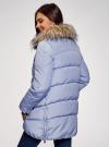Куртка с воротником из искусственного меха oodji #SECTION_NAME# (синий), 10210002-1/46266/7500N - вид 3