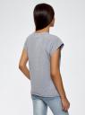Футболка с летним принтом oodji для женщины (серый), 14707001-7/46154/23A0Z