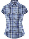 Рубашка клетчатая с коротким рукавом oodji #SECTION_NAME# (синий), 11402084-4/35293/7075C