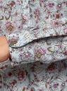 Блузка вискозная прямого силуэта oodji #SECTION_NAME# (синий), 21400394-1B/24681/7041F - вид 5