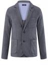 Пиджак из фактурной ткани с накладными карманами oodji для мужчины (синий), 2L420220M/47749N/7910O