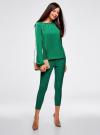 Блузка свободного кроя с вырезом-капелькой oodji #SECTION_NAME# (зеленый), 21400321-2/33116/6E00N - вид 6