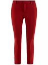 Брюки slim средней посадки oodji для женщины (красный), 21703123/47462/4904N
