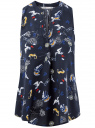 Топ базовый из вискозы oodji для женщины (синий), 14911008B/24681/7910O