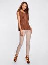 Блузка принтованная из вискозы с двумя карманами oodji #SECTION_NAME# (коричневый), 21412132/24681/3912D - вид 6
