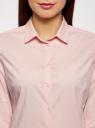 Рубашка хлопковая базовая oodji для женщины (розовый), 13K03001-1B/14885/4001N