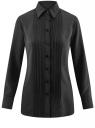 Блузка свободного силуэта с декоративными отстрочками на груди oodji для женщины (черный), 21411110/42549/2900N