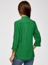 Блузка вискозная с регулировкой длины рукава oodji для женщины (зеленый), 11403225-3B/26346/6D00N