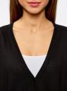Кардиган вязаный свободного силуэта oodji для женщины (черный), 63212569/45763/2900N