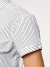 Рубашка хлопковая с коротким рукавом oodji #SECTION_NAME# (слоновая кость), 13K01004B/33081/1025S - вид 5