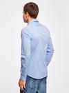 Рубашка extra slim в мелкую клетку oodji #SECTION_NAME# (синий), 3B140003M/39767N/1070C - вид 3
