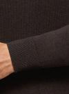 Свитер базовый из хлопка oodji для мужчины (коричневый), 4B312003M-1/34390N/3901M - вид 5
