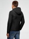 Куртка стеганая с капюшоном oodji #SECTION_NAME# (черный), 1B112007M/46376N/2900N - вид 3