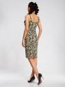 Платье-майка трикотажное oodji #SECTION_NAME# (желтый), 14015007-3B/37809/2912F - вид 3