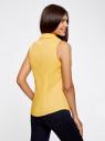 Рубашка базовая без рукавов oodji #SECTION_NAME# (желтый), 11405063-6/45510/5000N - вид 3
