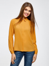 Блузка из струящейся ткани oodji #SECTION_NAME# (оранжевый), 11400368-3/32823/5200N - вид 2