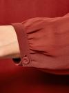 Блузка из шифона свободного силуэта с завязками oodji #SECTION_NAME# (красный), 21400402/17358/3100N - вид 5