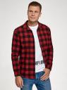 Рубашка хлопковая с длинным рукавом oodji #SECTION_NAME# (красный), 3L320016M/39882N/4529C - вид 2