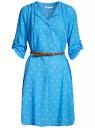 Платье вискозное с ремнем oodji #SECTION_NAME# (синий), 11900180B/42540/7510Q