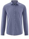 Рубашка хлопковая принтованная oodji #SECTION_NAME# (синий), 3L110326M/19370N/7975G