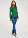 Рубашка базовая с нагрудными карманами oodji #SECTION_NAME# (зеленый), 11403222B/42468/6E00N - вид 6