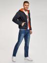 Куртка утепленная с капюшоном oodji #SECTION_NAME# (синий), 1L512022M/44334N/7900N - вид 6