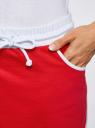 Юбка трикотажная на эластичном поясе oodji для женщины (красный), 14101098B/46155/4510B