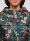 Куртка удлиненная с капюшоном oodji #SECTION_NAME# (зеленый), 10204058-1B/46708/6954F - вид 4