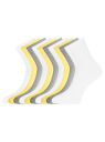 Комплект из десяти пар носков oodji для женщины (разноцветный), 57102466T10/47469/1