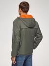 Куртка утепленная с капюшоном oodji #SECTION_NAME# (зеленый), 1L512022M/44334N/6600N - вид 3
