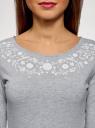 Платье трикотажное приталенное oodji #SECTION_NAME# (серый), 14011005-4/47420/2010Z - вид 4