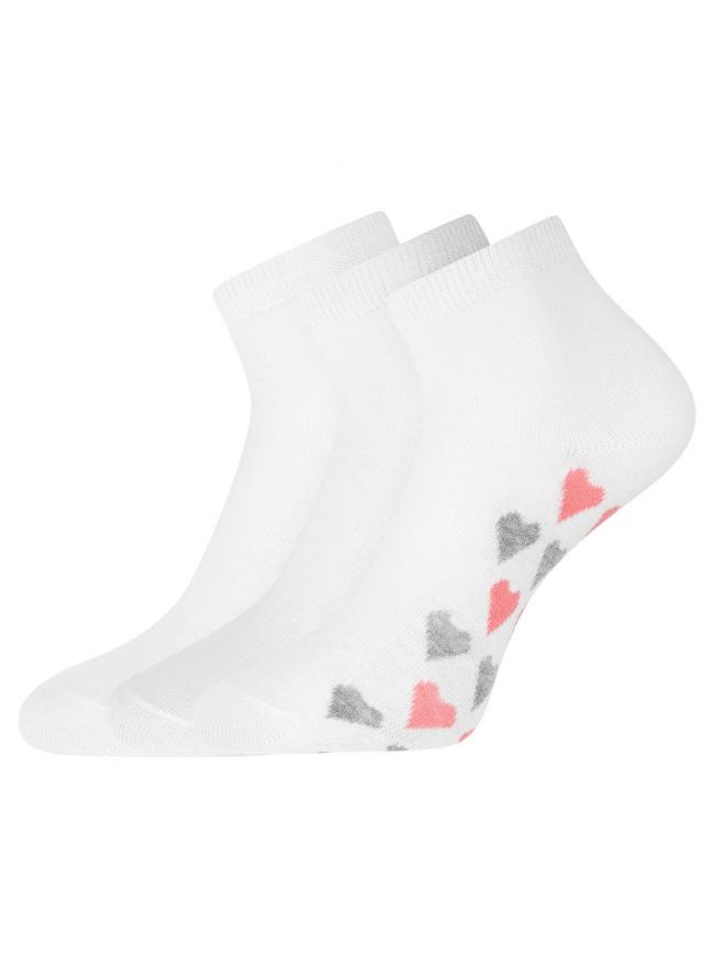 Комплект из трех пар укороченных носков oodji для женщины (разноцветный), 57102418T3/47469/42