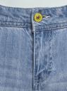Джинсы slim с вышивкой oodji для женщины (синий), 12105111-1/42559/7000W