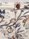 Джинсы принтованные скинни oodji для женщины (слоновая кость), 12103115/42858/3079E - вид 4