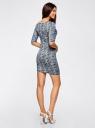 Платье трикотажное облегающее oodji #SECTION_NAME# (синий), 14001121-3B/16300/7912L - вид 3