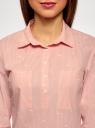 Рубашка принтованная с карманами oodji #SECTION_NAME# (розовый), 13K03002-2B/45202/4110S - вид 4