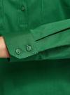 Рубашка базовая с нагрудными карманами oodji #SECTION_NAME# (зеленый), 11403222B/42468/6E00N - вид 5