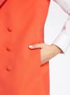 Жилет удлиненный с декоративными пуговицами oodji #SECTION_NAME# (оранжевый), 22305001-3/46415/5500N - вид 5