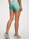 Шорты джинсовые стретч с отворотами oodji #SECTION_NAME# (бирюзовый), 12807082B/45491/7300W - вид 3