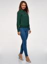 Блузка из струящейся ткани с нагрудными карманами oodji #SECTION_NAME# (зеленый), 11401278/36215/6900N - вид 6