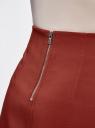 Юбка-трапеция с декоративными карманами oodji #SECTION_NAME# (красный), 11600427-1/42250/3100N - вид 4