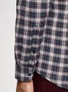 Рубашка прямого силуэта из хлопка oodji #SECTION_NAME# (разноцветный), 3L310188M/49363N/1279C - вид 5