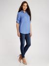 Блузка базовая из вискозы с карманами oodji #SECTION_NAME# (синий), 11400355-4/26346/7501N - вид 6