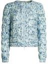 Куртка стеганая с принтом oodji для женщины (синий), 10203050-1B/42257/6519A