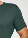 Футболка базовая oodji для мужчины (зеленый), 5B621002M/44135N/6E00N